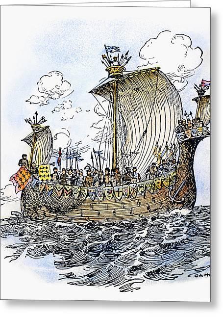 Norman Warship, 1066 Greeting Card
