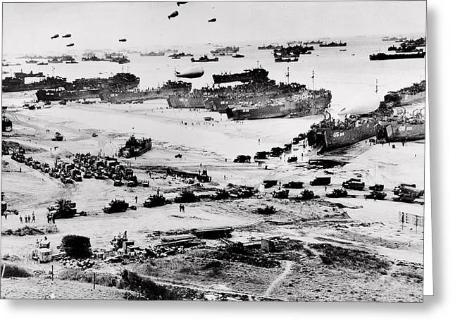 Normandy Greeting Card by Benjamin Yeager