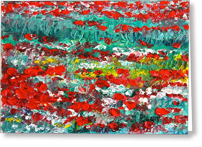 Normandy Poppy Field Dreams I Greeting Card