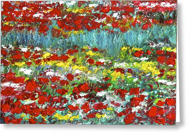Normandy Poppy Field Dreams  II Greeting Card