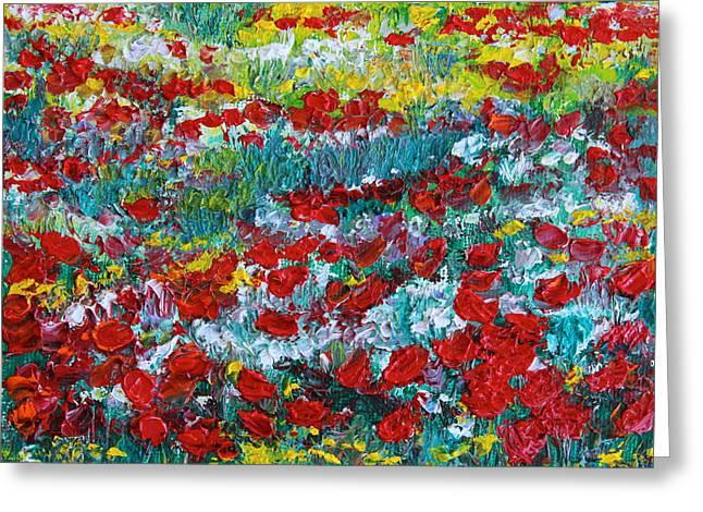 Normandy Poppy Field Dreams IIi Greeting Card