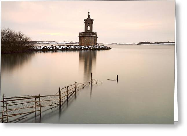 Normanton Church Sunset Greeting Card