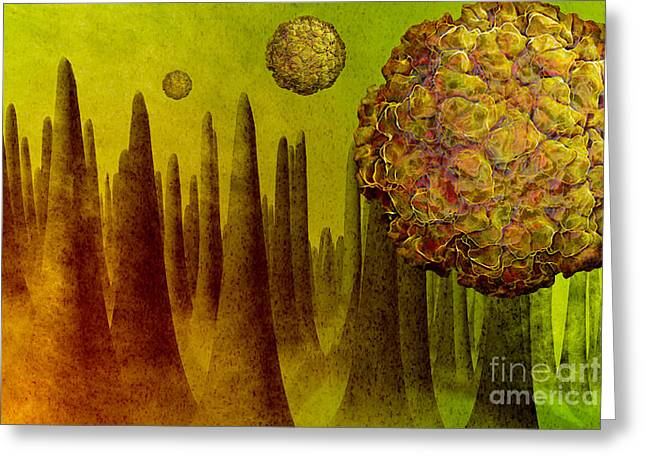 Norovirus In Small Intestine Greeting Card by Carol and Mike Werner