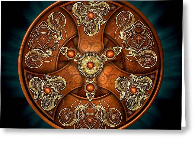 Norse Chieftain's Shield Greeting Card by Richard Barnes