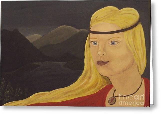 Norse Goddess Freya Greeting Card by Megan Cockrell