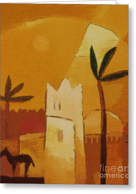 North Africa Greeting Card by Lutz Baar