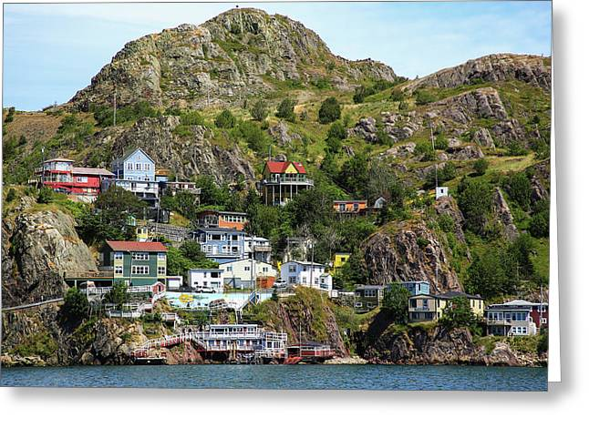 North America, Canada, Nl, The Battery Greeting Card by Patrick J. Wall