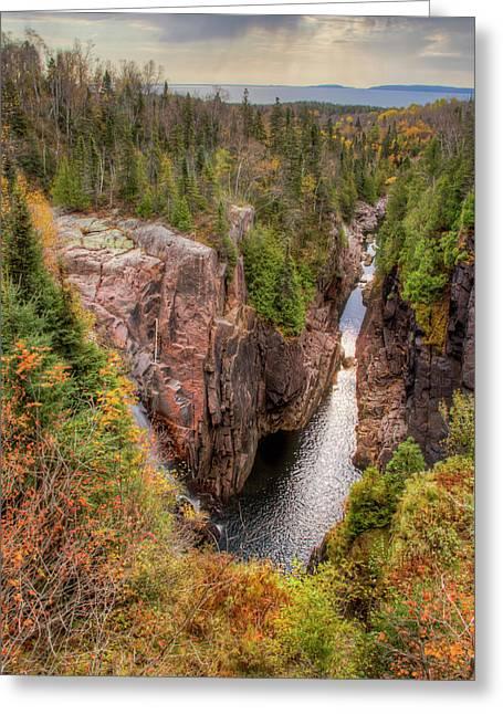 North America, Canada, Ontario, Terrace Greeting Card by Frank Zurey