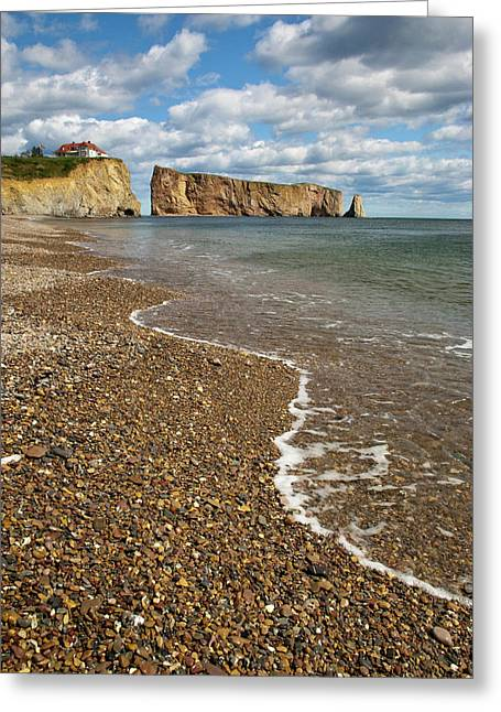 North America, Canada, Quebec, Perce Greeting Card by Patrick J. Wall