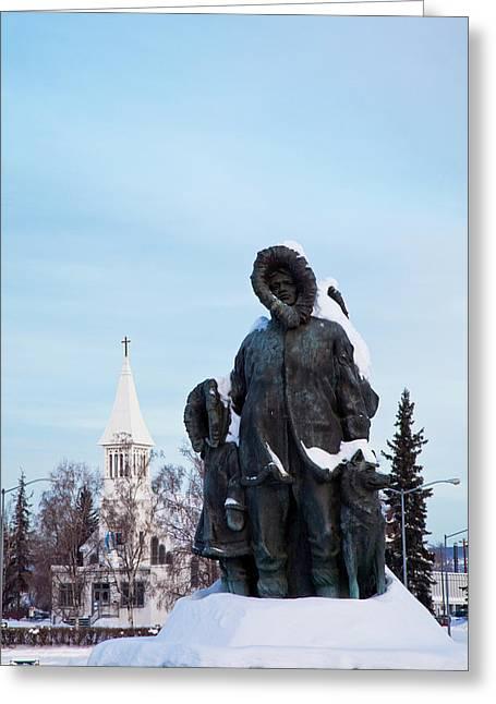 North America, Usa, Alaska, Winter Greeting Card by Terry Eggers