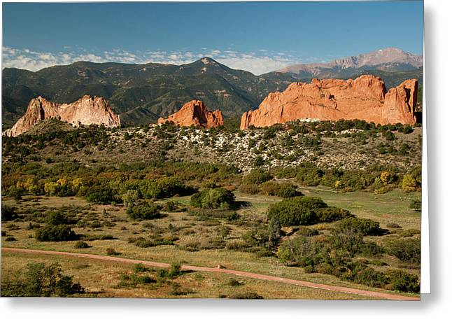 North America, Usa, Colorado Springs Greeting Card by Patrick J. Wall