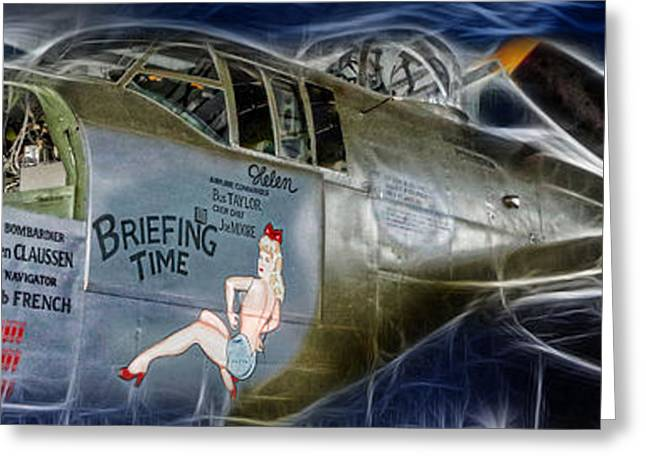 North American B-25 Mitchell Bomber  Greeting Card by Lee Dos Santos