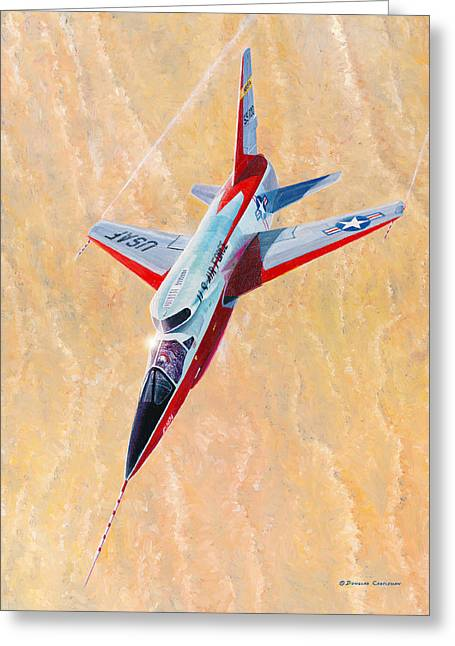 North American F-107a Ultra Sabre Greeting Card