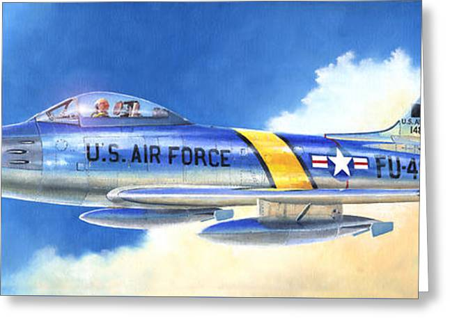 North American F-86f Sabre Greeting Card