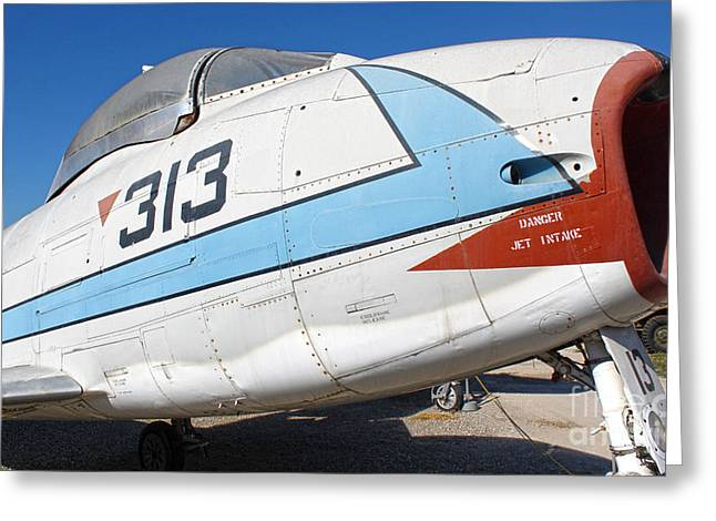 North American Fury Fj-3 - 02 Greeting Card by Gregory Dyer