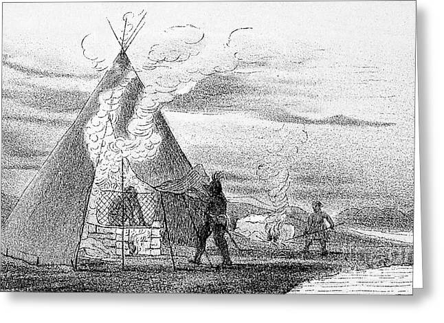 North American Indian Vapor Baths, C Greeting Card
