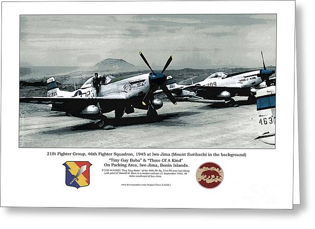 North American P-51d Mustang Greeting Card by Kenneth De Tore
