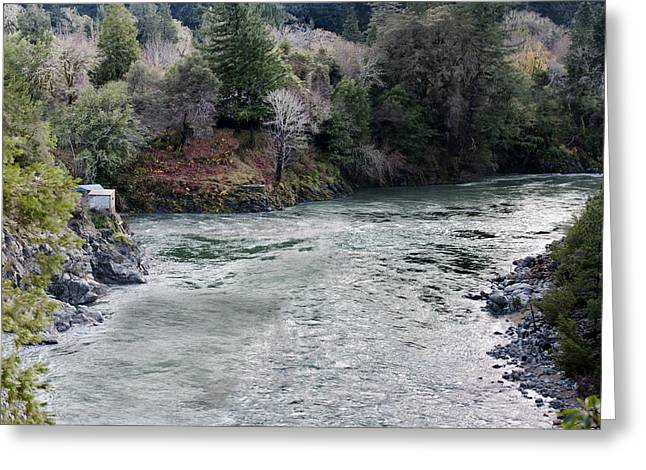 North And Middle Fork Of Smith River 2 Greeting Card