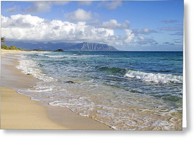 North Beach Kaneohe 7 Greeting Card