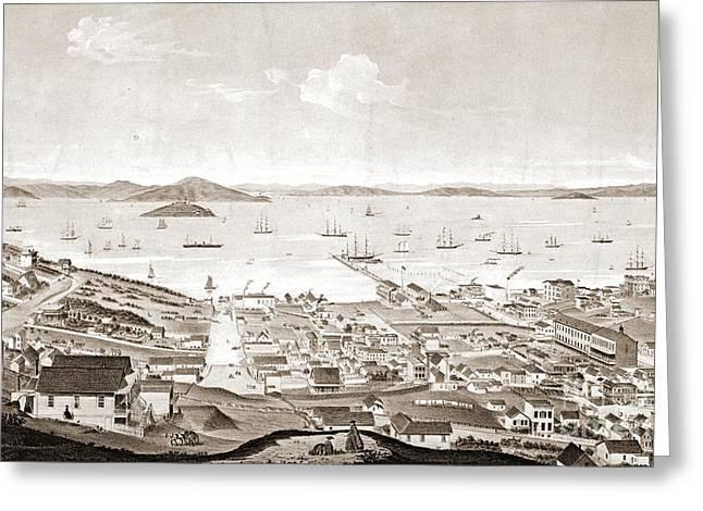 North Beach San Francisco 1861 Greeting Card