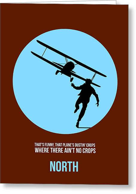 North By Northwest Poster 2 Greeting Card by Naxart Studio