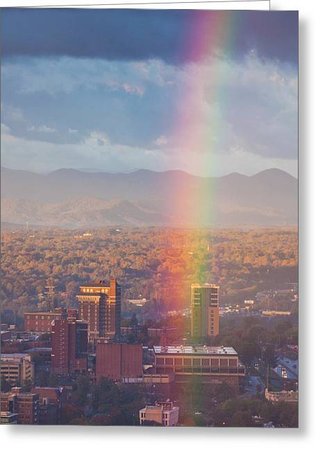 North Carolina, Asheville, Elevated Greeting Card