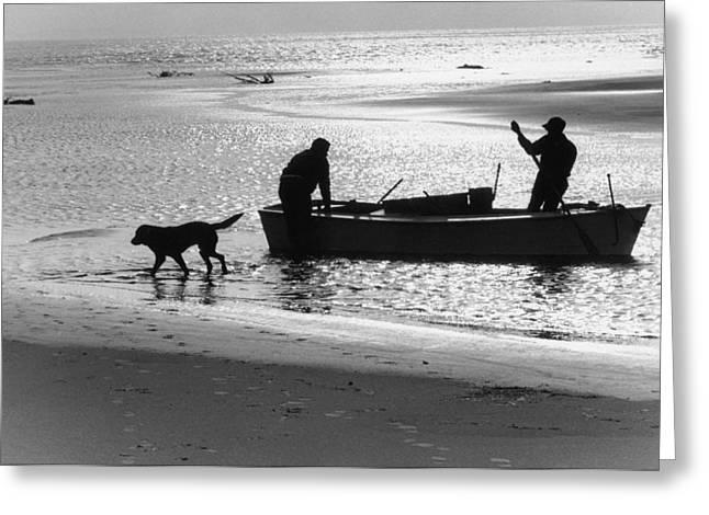 North Carolina Fishermen Greeting Card by Bruce Roberts