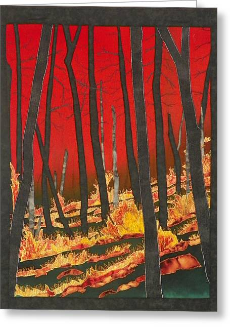 North Carolina Forests Under Fire II Greeting Card