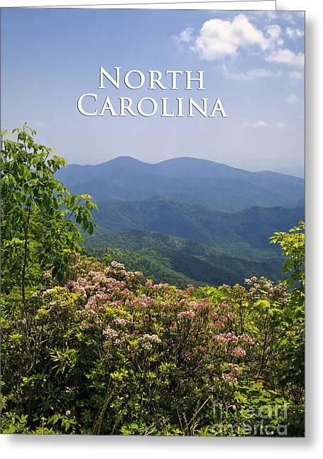 North Carolina Mountains Greeting Card