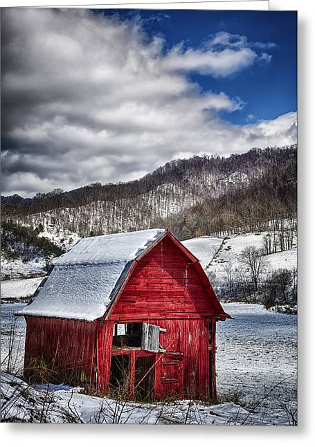 North Carolina Red Barn Greeting Card