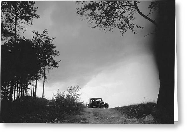 North Carolina Scenic View Greeting Card by Underwood Archives