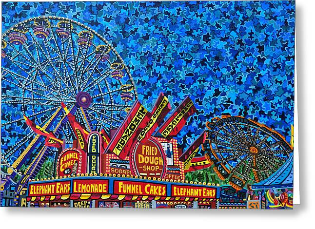 North Carolina State Fair 2 Greeting Card by Micah Mullen