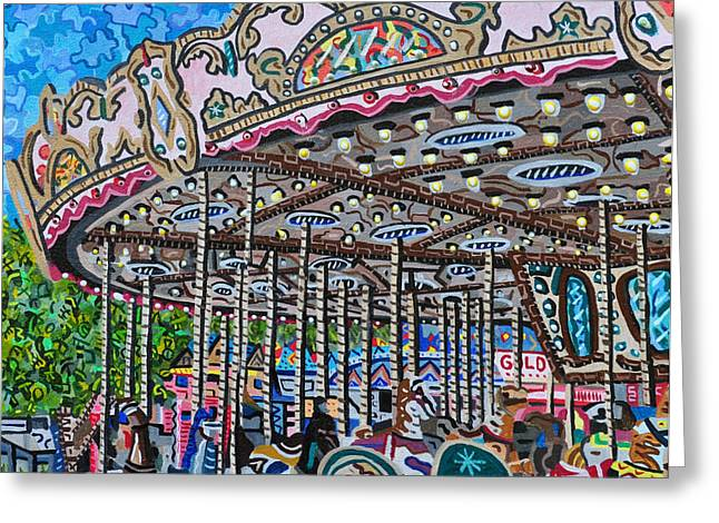 North Carolina State Fair Greeting Card by Micah Mullen
