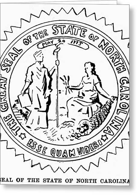 North Carolina State Seal Greeting Card by Granger