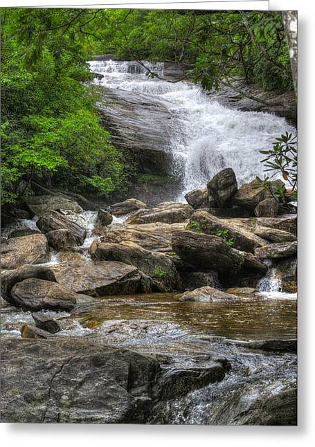 Greeting Card featuring the photograph North Carolina Waterfall by Michael Colgate