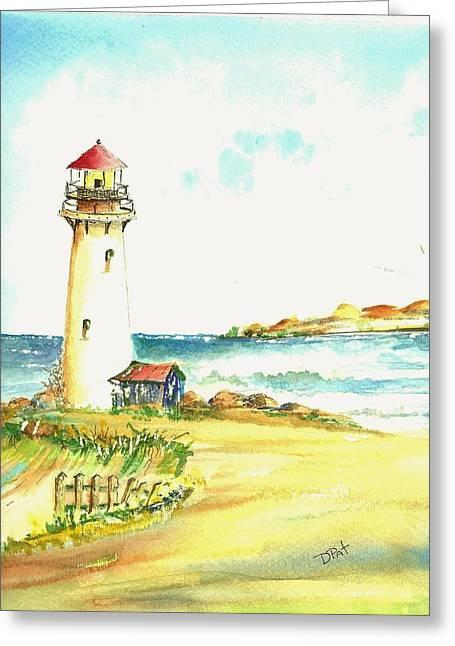 North Coast Light House Greeting Card by David Patrick