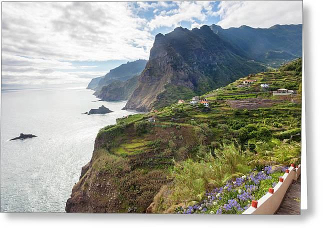 North Coast Near Ponta Delgada Greeting Card by Peter Adams