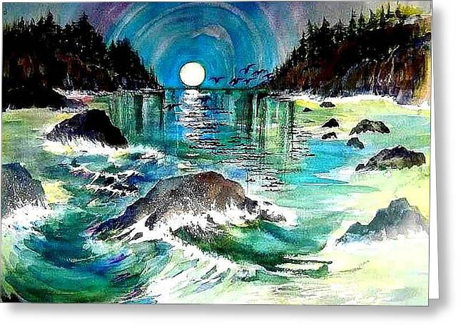 North Coast Sea Greeting Card