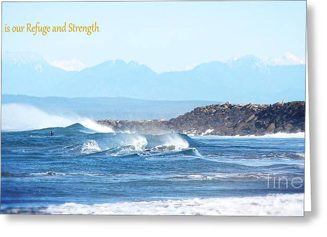 North Coast Surf  Greeting Card by Beverly Guilliams