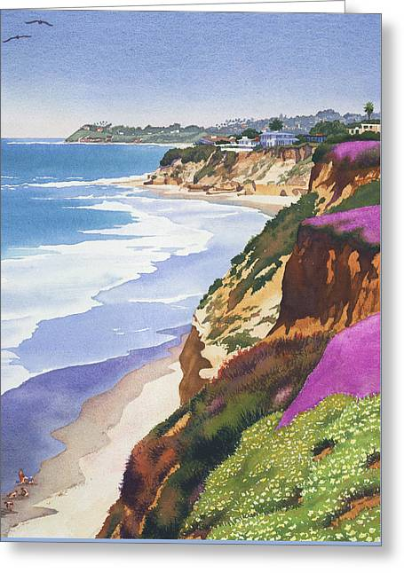 North County Coastline Greeting Card