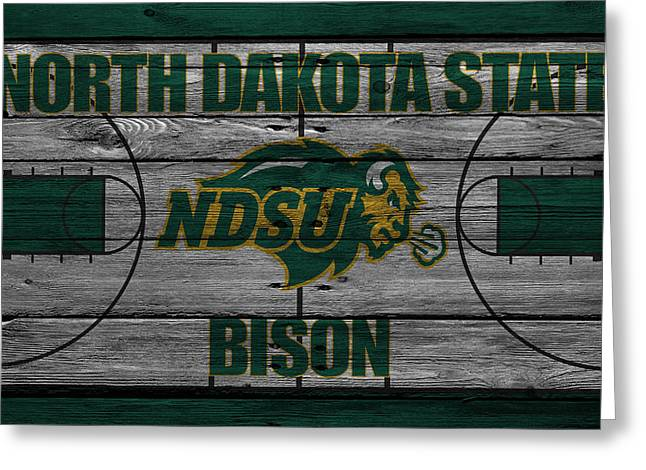 North Dakota State Bison Greeting Card by Joe Hamilton