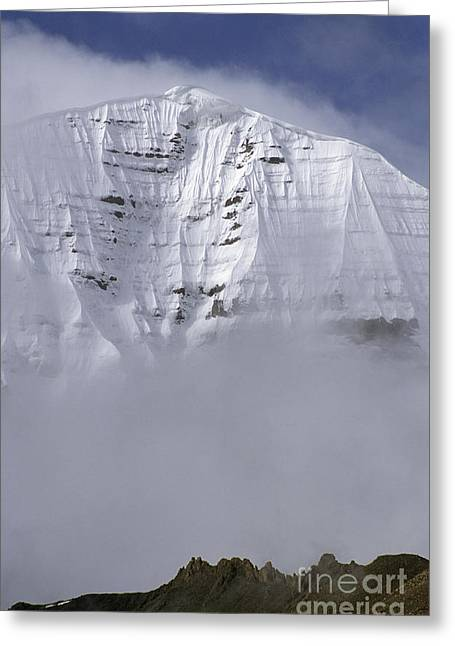 North Face Of Mount Kailash - Tibet Greeting Card