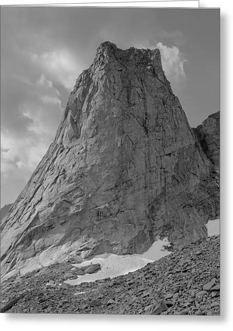 109649-bw-north Face Pingora Peak, Wind Rivers Greeting Card