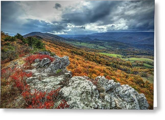 North Fork Mountain Overlook Greeting Card by Jaki Miller