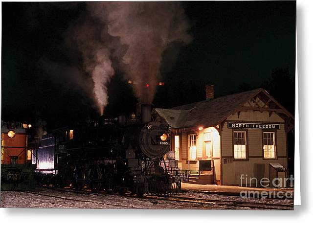 North Freedom Wisconsin Steam Train Greeting Card by Clare VanderVeen