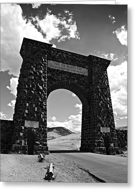 North Gate Greeting Card by Paul Conner