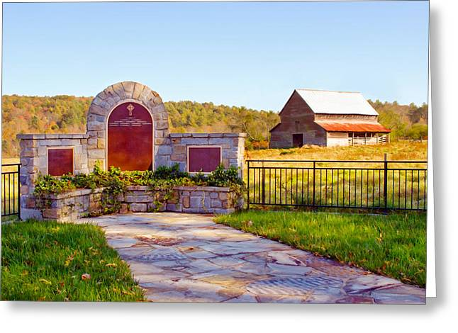Greeting Card featuring the photograph Landscape Barn North Georgia by Vizual Studio