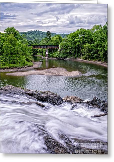 North Hartland Vermont Swimming Hole Greeting Card by Edward Fielding