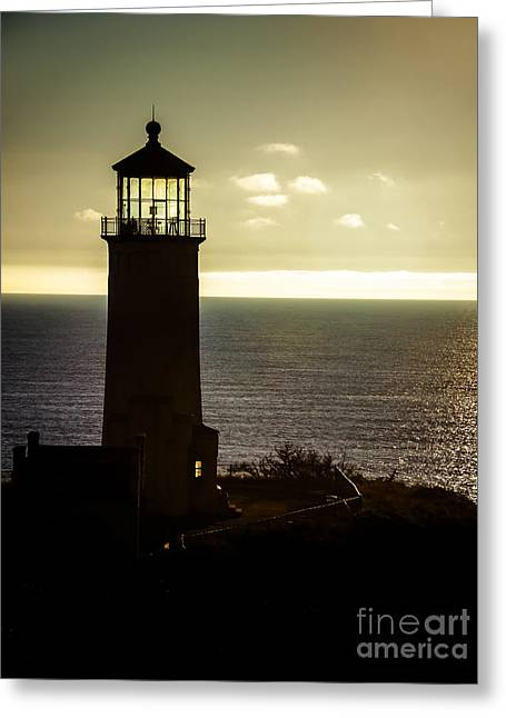 North Head Lighthouse After Sunset  Greeting Card by Robert Bales