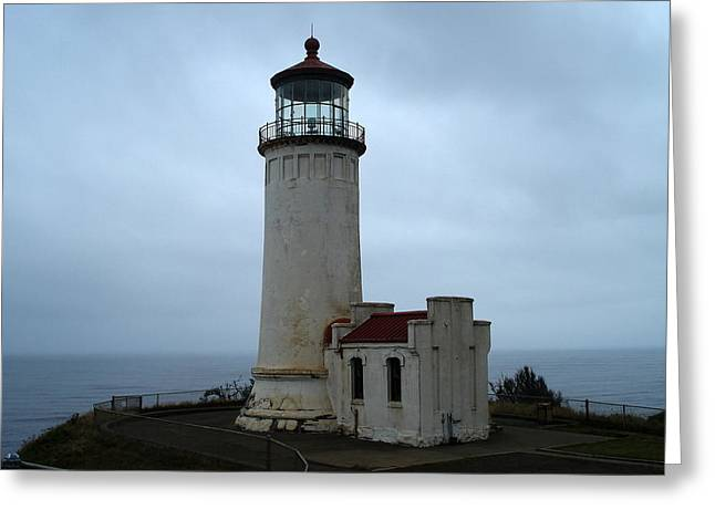 North Head Lighthouse At Cape Disappointment Greeting Card by Lizbeth Bostrom